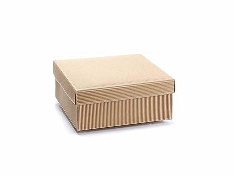 8 cajas de regalo de cartón natural rústico con tapa