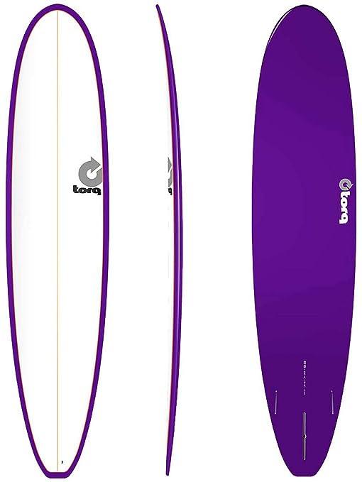 TORQ Tabla de Surf epoxy Tet 8.6 Longboard White Purpl