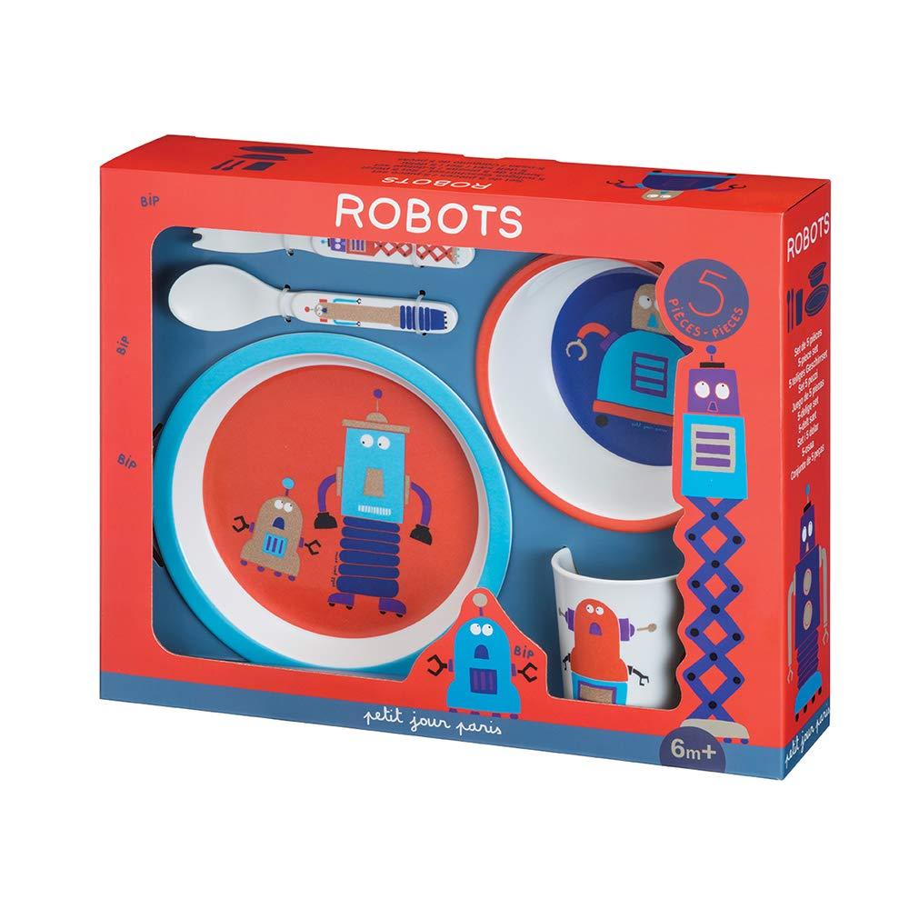 Petit Jour Paris AR701J Geschirrset Roboter Um wie die Erwachsenen zu essen