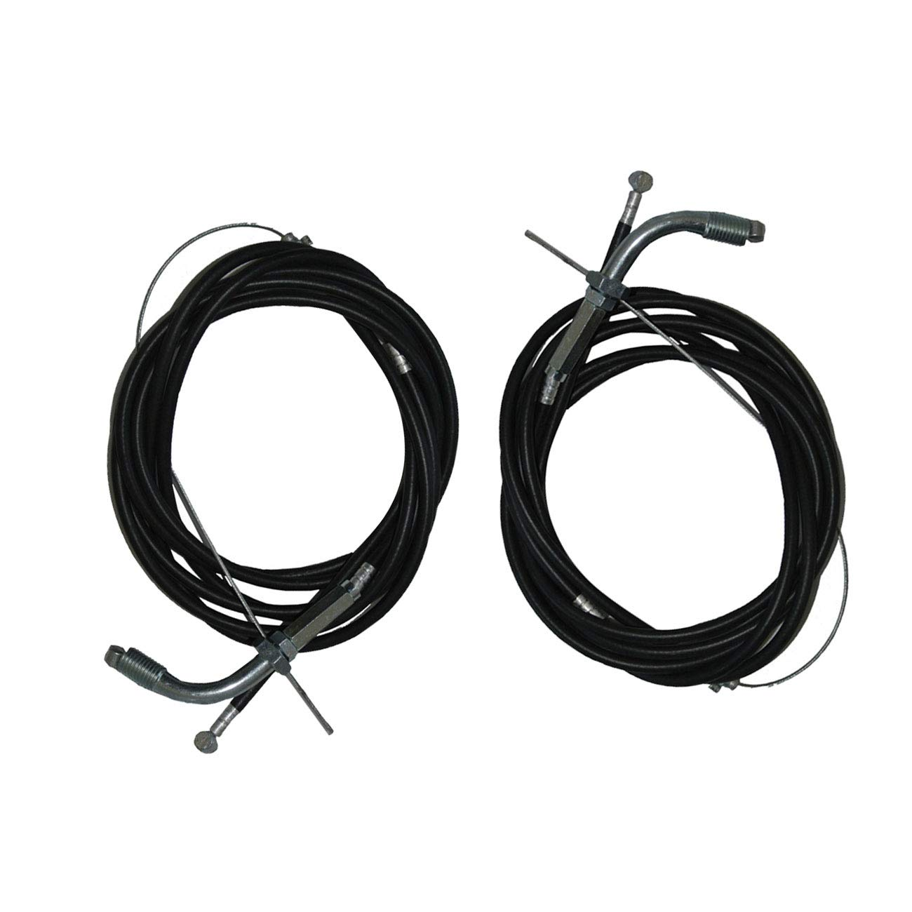NORTHTIGER 2pcs Throttle Cable Clutch Cable for 66cc 80cc 2 Stroke Engine Motorized Bicycle