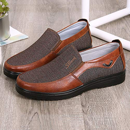 2a21a72a4e4d TIFENNY Autumn Fashion Retro Business Shoe Casual Leather Soft Bottom  Breathable Comfortable Flat Men's Shoes Brown