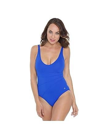 ecd360dc9f3 Seaspray SY007064 Women s Blue Solid Colour Costume One Piece Swimsuit 8