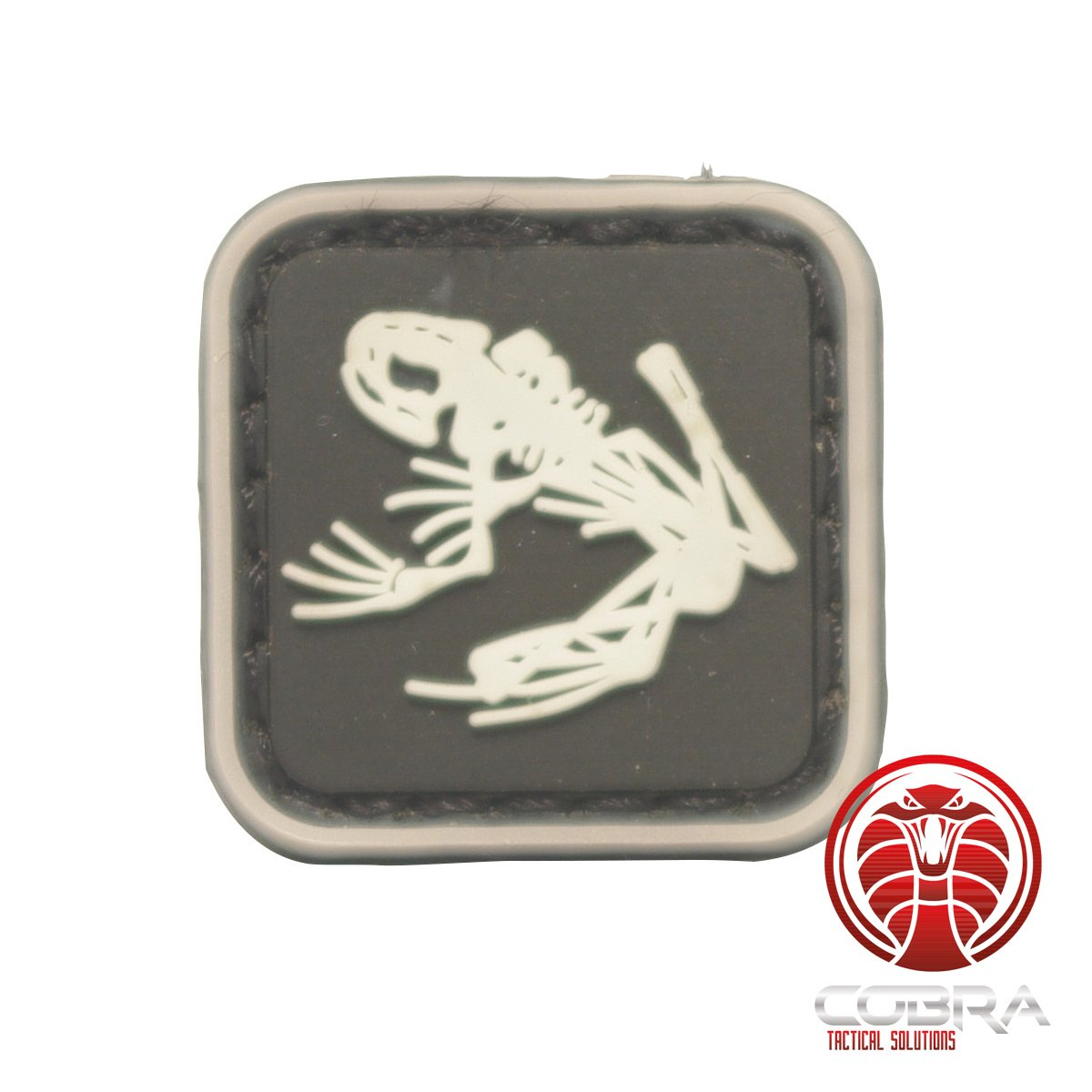 Cobra Tactical Solutions Parche Militar US Marina Navy Seals Bone Frog Skull Skeleton DEVGRU Insignia Moral NSWDG USSOCOM PVC con su cord/ón Hook /& Loop para Airsoft Paintball