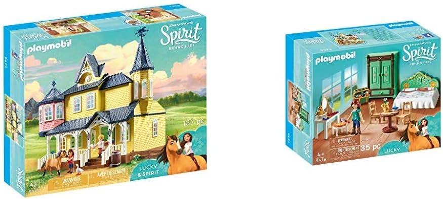 PLAYMOBIL 9475 Spielzeug-Luckys glückliches Zuhause & 9476 Spielzeug-Luckys Schlafzimmer