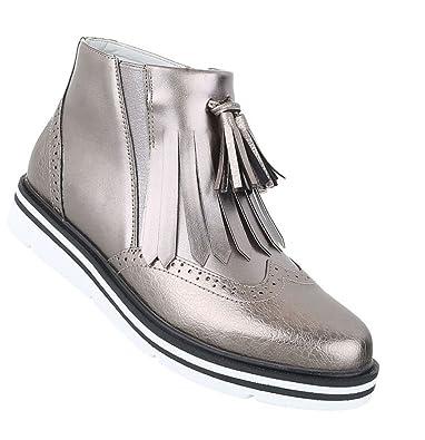 Schuhcity24 Damen Stiefeletten Leder-Optik   Chelsea Boots ... 6e6b3feb62