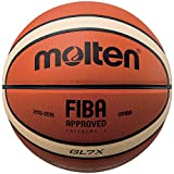 Molten Leather Basketball, Orange/Tan, Official Size 7