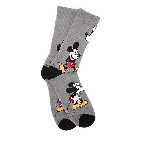 Vans Disney Gris Mickey Mouse Crew calcetines: Amazon.es: Zapatos y complementos