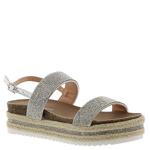 704d8966da47 Madden Girl Women s Glitzie Wedge Sandal Silver Multi 9 B(M) US  Buy ...