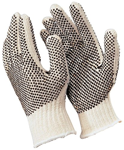 Memphis Gloves Industrial Pair of Glove with PVC Dots on Both Sides, Extra Large (6)