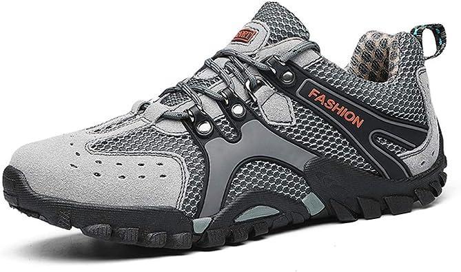 ZHShiny Zapatillas de Correr para hompirables Zapatillas de Deporte de Seguridad construcción Industrial Zapatos a Prueba de pinchazosbre Antideslizantes Ligeras Trans: Amazon.es: Zapatos y complementos
