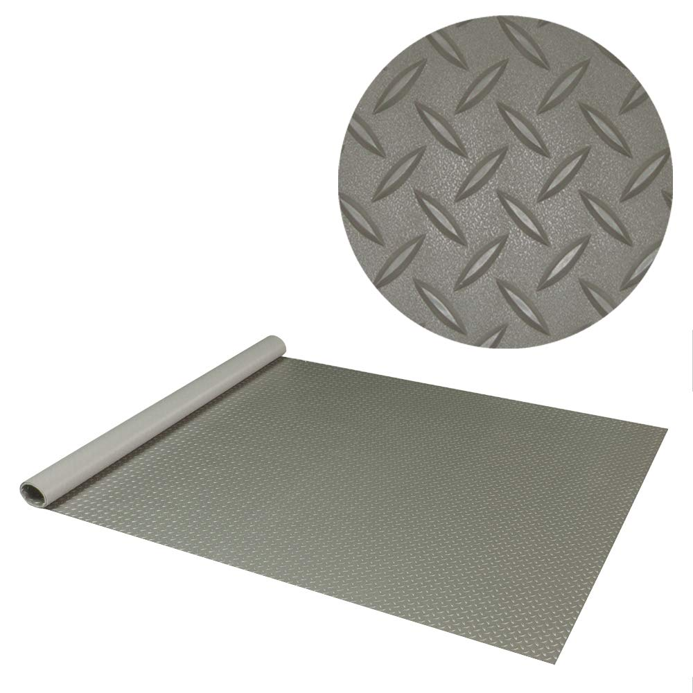 RoughTex Diamond Deck 85724 Pewter Textured Roll Out Garage Floor Mat, Various Sizes Available