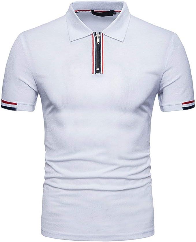 Camisa De Polo De Manga Larga Unico Cremallera con Y Diseño De ...