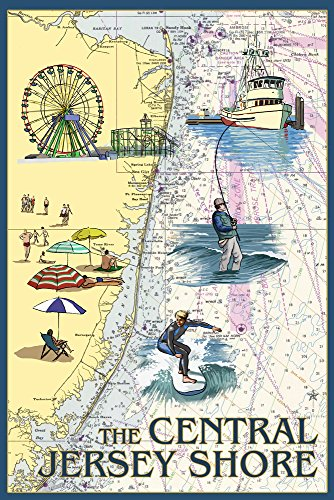 Central Jersey Shore - Nautical Chart