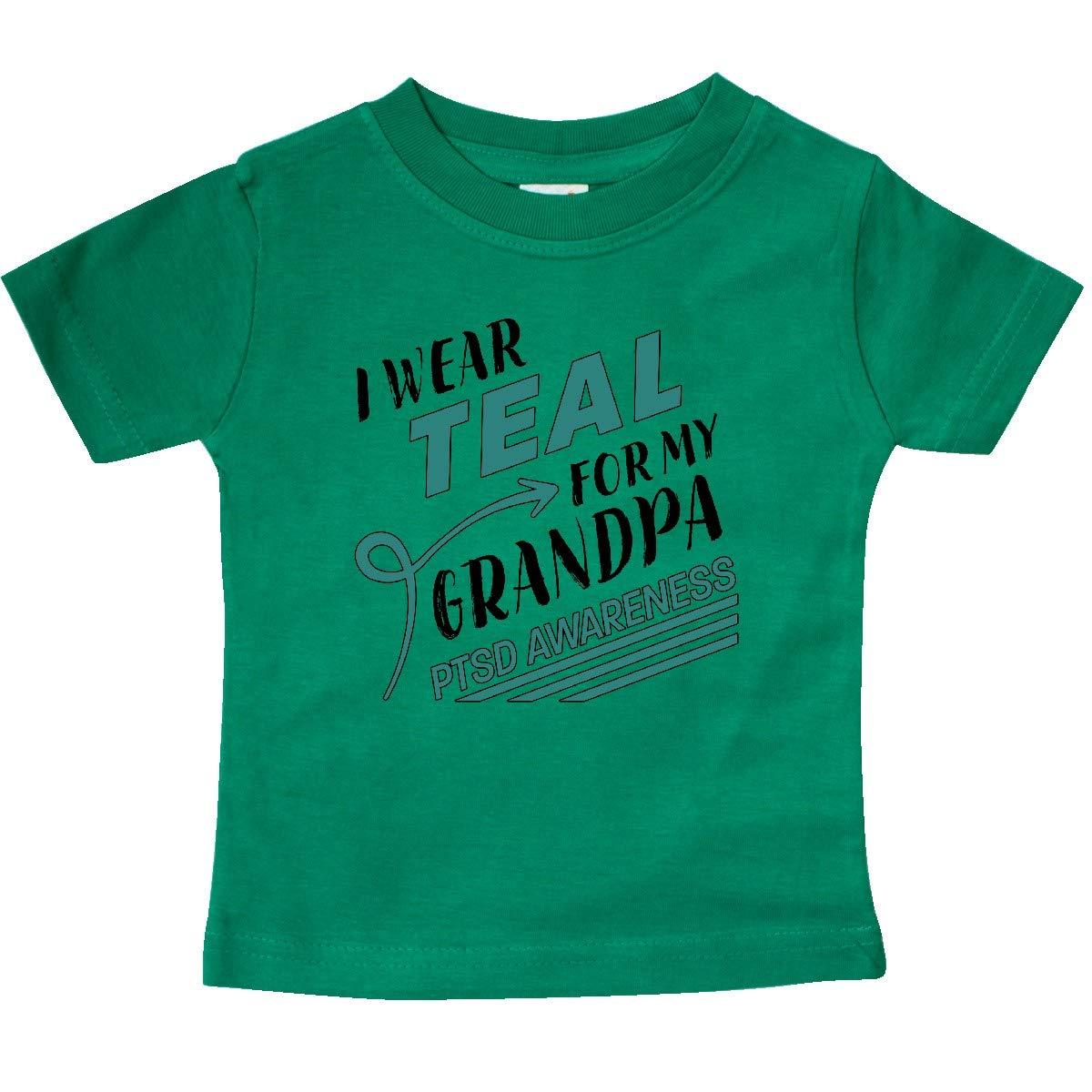 inktastic I Wear Teal for My Grandpa PTSD Awareness Baby T-Shirt