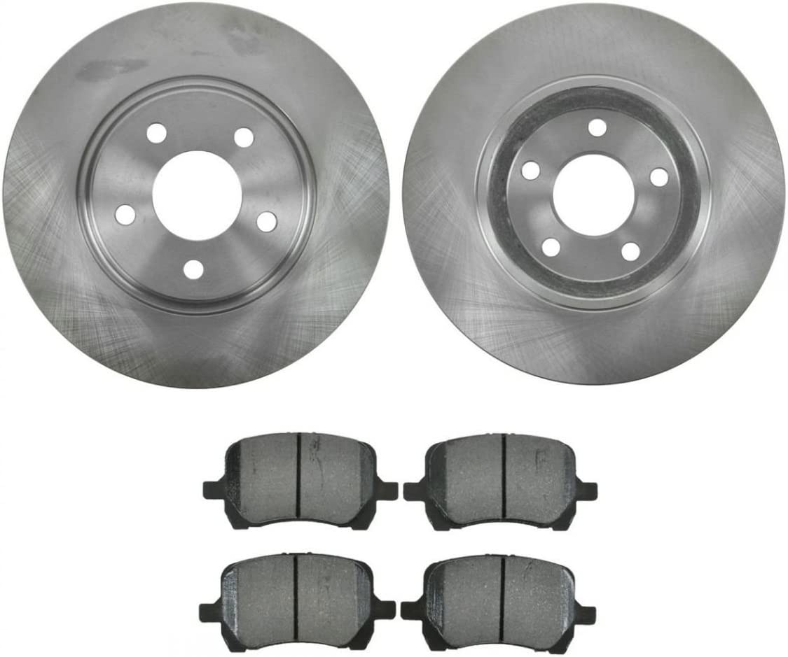 Saturn Malibu Ion Rear Black Drilled Brake Rotors+Semi-Met Pads For Chevrolet