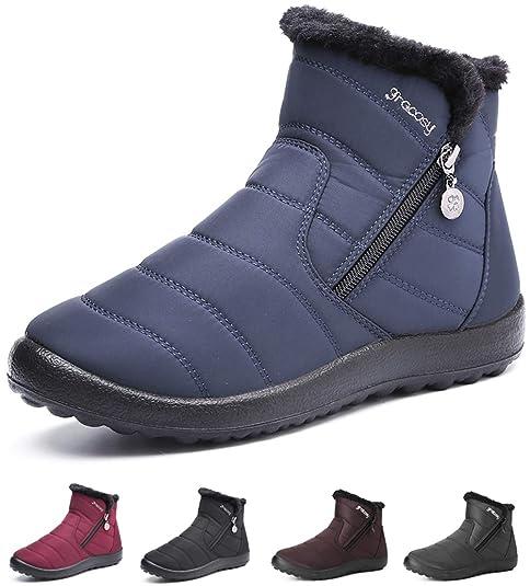Damen winterschuhe Schneestiefel wasserdicht Warme Boots
