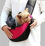 YOKINO 全4色 ペットバッグ ペットキャリーバッグ 猫用 犬用 リュック 抱っこ バッグ ショルダーバッグ pet bag 肩掛け アウトドア 旅行 散歩 お出かけ 便利 斜めがけ 携帯しやすい 通気性抜群 肩紐長さ調整可能 飛び出し防止 手ぶら 小型 中型 犬用 ペットリュック 人気ペット鞄 (4色) (S, ローズ)