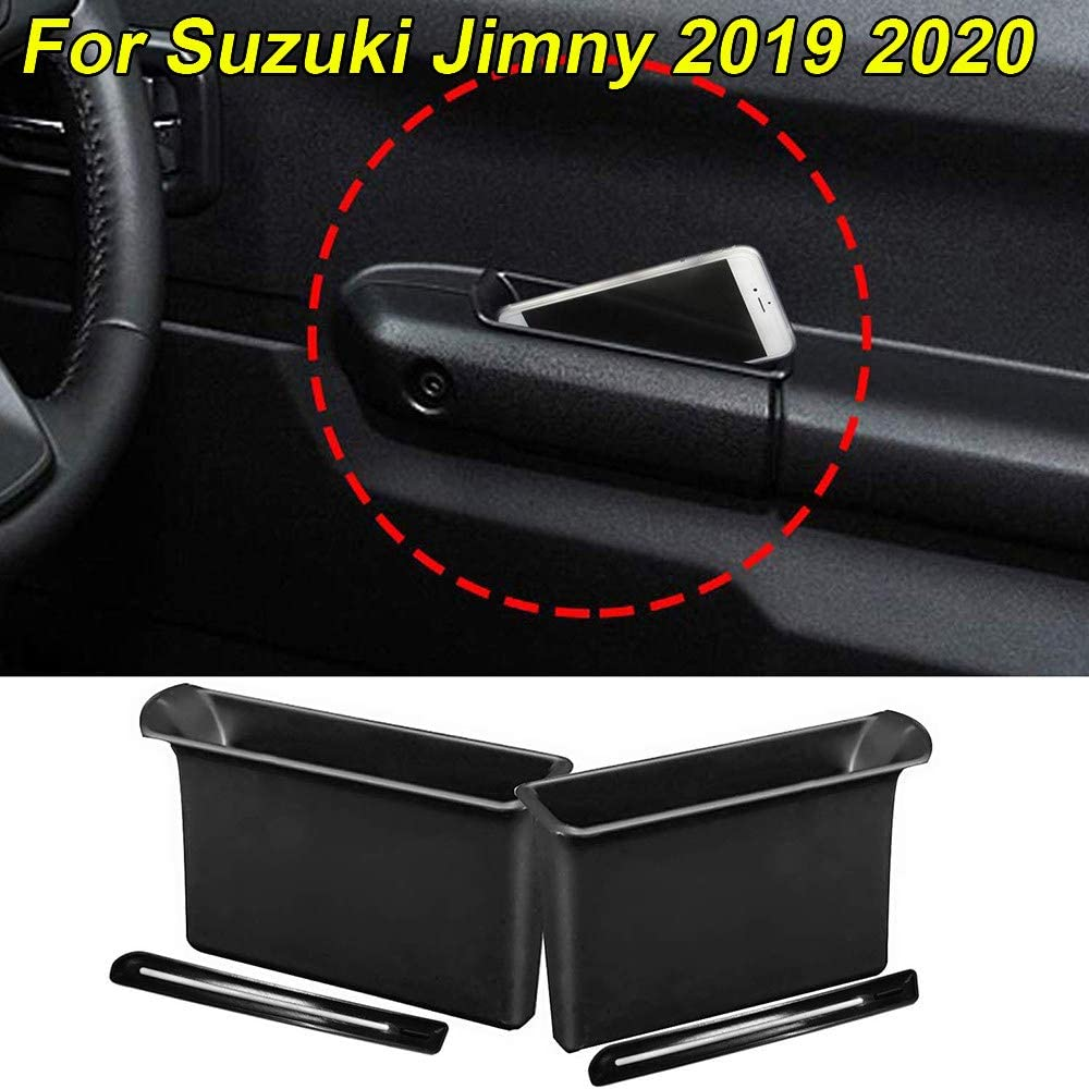 AniFM 2pcs Armrest Container Door Storage Box Handle Pocket Armrest Storage Container Pocket Organizer Holder Box for Suzuki Jimny 2019 2020 Accessories Interior
