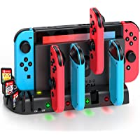 Joycon Controller Charger Dock Station Compatible with Nintendo Switch, KDD Joycon Charging Dock Station with 8 Game…