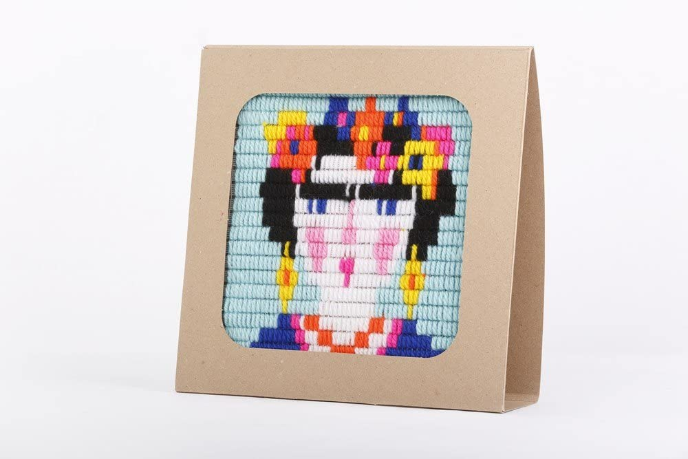 Dimensions Unicorn Fun Mini Counted Cross Stitch Kit for Beginners 11 Count White Aida 3D