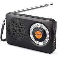 Radio Portable Transistor Batterie Radio Mini FM AM Radio de Poche Haut-Parleur avec Son Clair Mini Récepteur Dsp Digital Tuning, Alimentée par 2 Piles AA