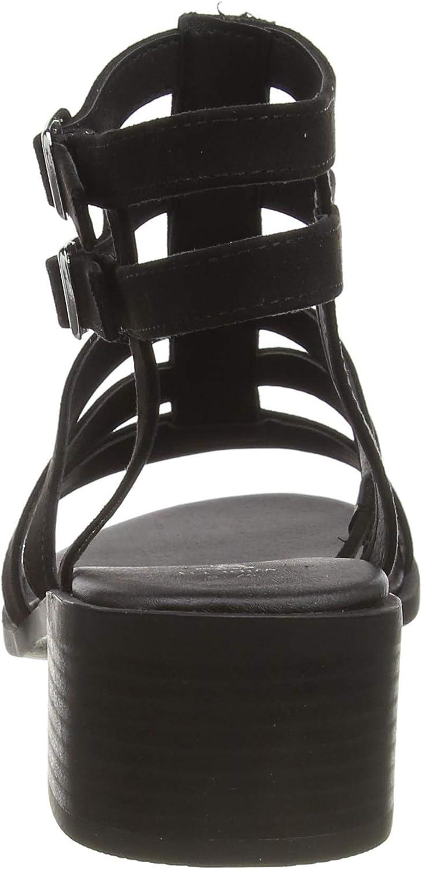 Noir Black 1 Escarpins Bout Ouvert Femme New Look WF Pirate-SDT Gldtr Ftbd Hl35:1:s205 38 EU
