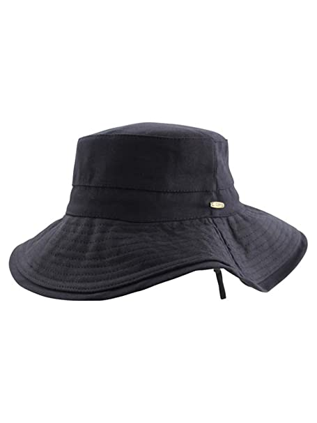 Luxury Divas Black Wide Brim Boonie Style Bucket Hat at Amazon Women s  Clothing store  7d43074c44