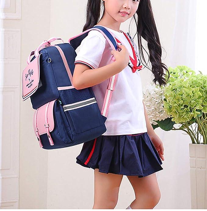 Amazon.com: BAAFG Elementary School Schoolbag Boys Backpack 8-10 Years Old Large Capacity School Schoolbag,Pink-OneSize: Home & Kitchen