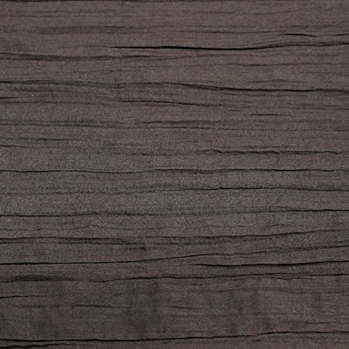 Brown 52'' Pleated Poly Cotton Voile Fabric by the Yard or Swatch (Sample Swatch)