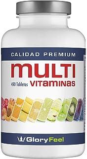 Multivitaminas 450 Pastillas Veganas - Vitaminas y Minerales - Complejo Multivitaminico para Hombres y Mujeres -