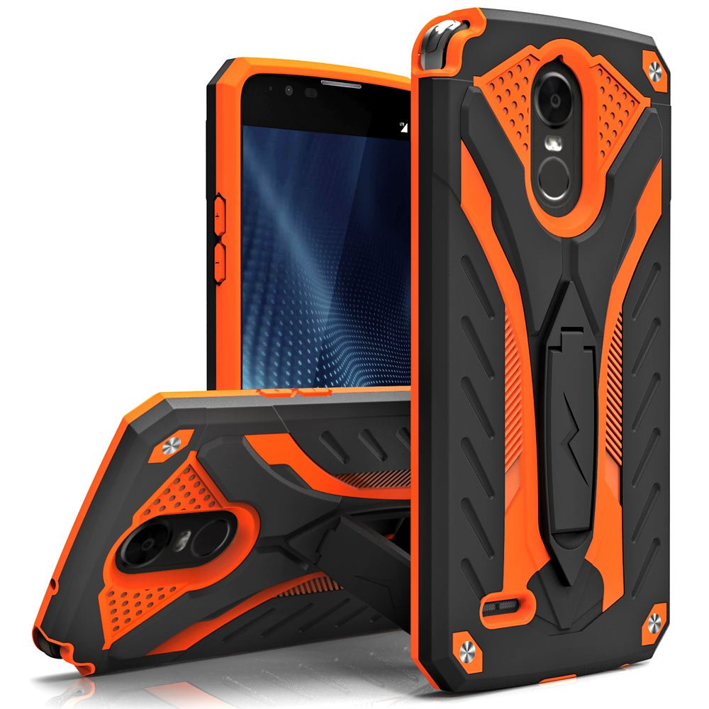 LG Stylo 3 Case, Zizo [Static Series] Shockproof [Military Grade Drop Tested] w/Kickstand [Heavy Duty Case] Impact Resistant - LG Stylo 3 Plus
