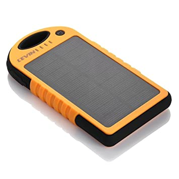 Cargador Solar Móvil 12000mAh,Levin Batería Externa Solar Impermeable Con Doble Puerto USB,Panel Solar PowerBank,Solar Charger Mobile Portátil ...
