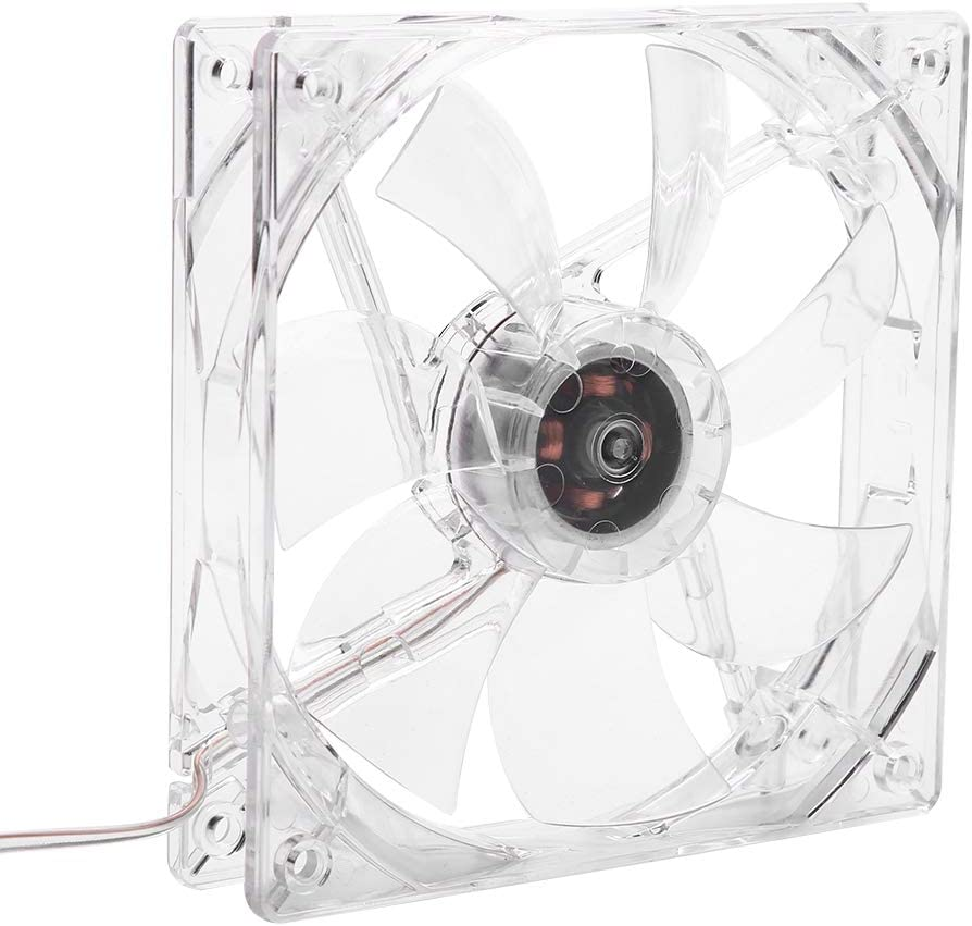 12cm USB LED Transparent Colorful Light Cooling Fan PC Computer CPU Cooling Fan ASHATA CPU Cooling Fan
