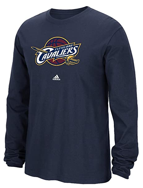 efe86955e Cleveland Cavaliers Adidas NBA Full Primary Logo Long Sleeve T-Shirt - Navy