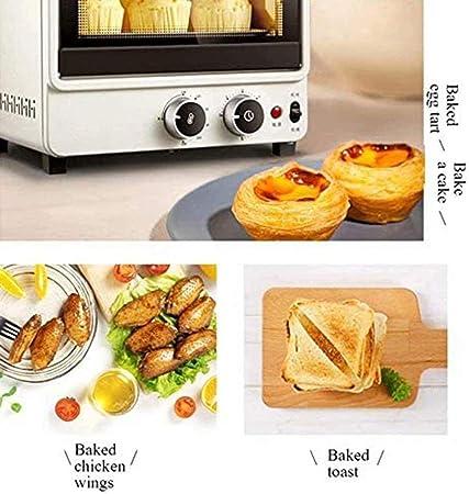 10L desayuno Estufa de la limpieza Pequeño eléctrico multifunción Mini Horno Cocina clara de huevo al horno,blanco