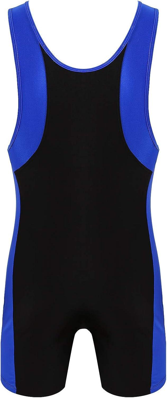 TiaoBug Homme Maillot de Corps Body D/ébardeur Combinaison Sport Fitness Lingerie Bodysuit Justaucorps Gymnastique Gilet sans Manches Salopette Extensible Jumpsuit M-XL