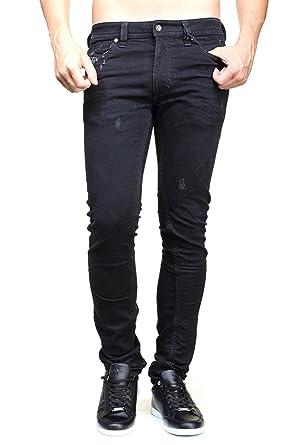7c98ca0922a Diesel Men s Thavar Trousers 0676L - Black -  Amazon.co.uk  Clothing