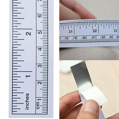 KJH21 Cinta métrica autoadhesiva, Vinilo Autoadhesivo, Regla métrica para máquina de Coser, As