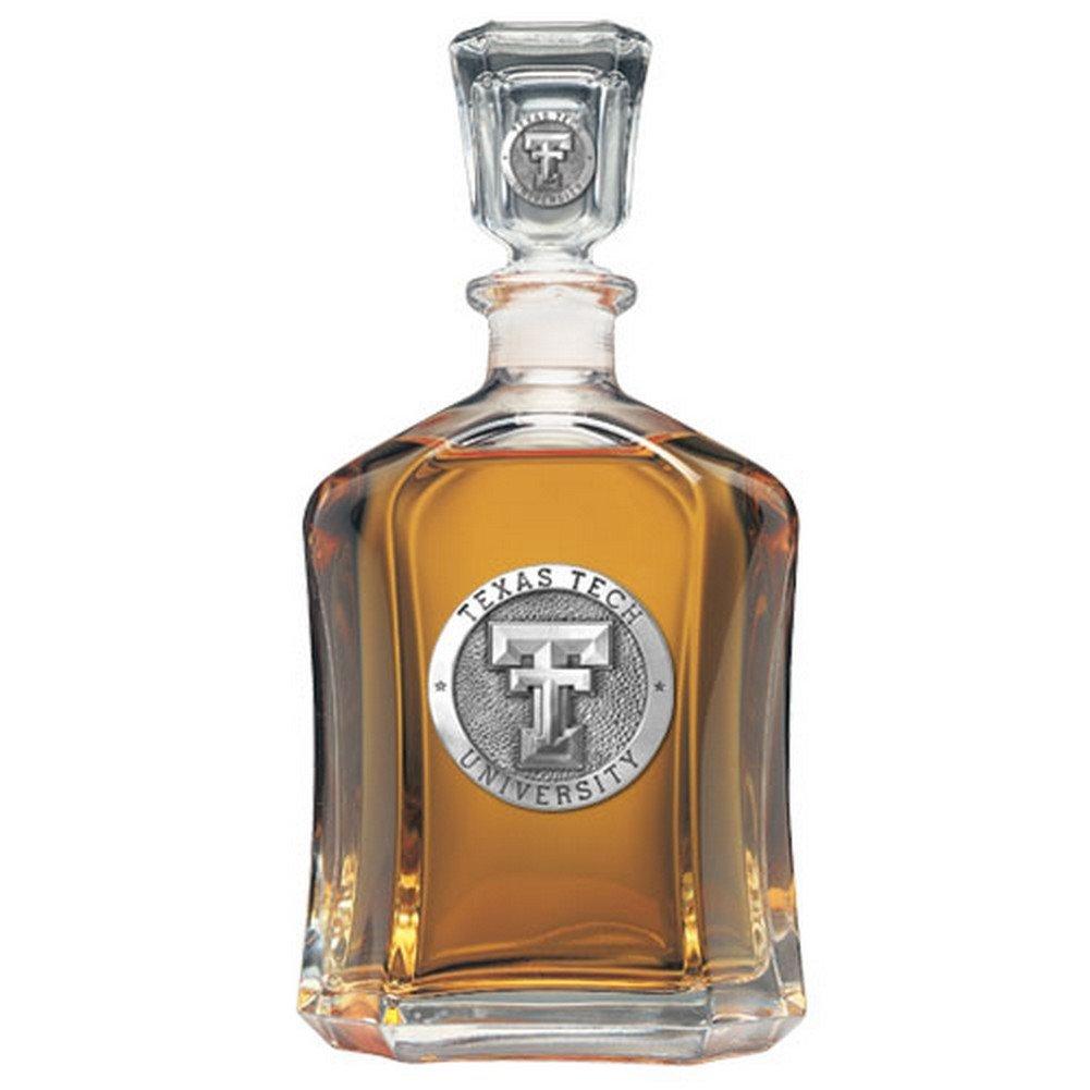 Texas Tech Red Raiders Glass Capitol Decanter (Spirit Holder) 24 oz - NCAA College Athletics