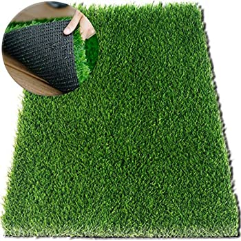 amazon com zestynest artificial grass doormat with smartdrain