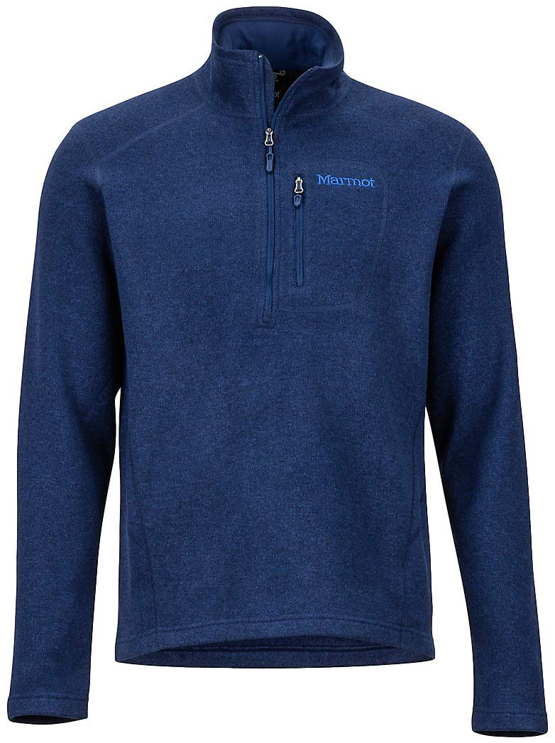 Marmot Drop Line 1/2 Zip Men's Pullover Jacket, Lightweight 100-Weight Sweater Fleece 71100