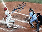 Howie Kendrick Autographed Photograph - 8X10 Dropping Bat at Plate COA - Autographed MLB Photos