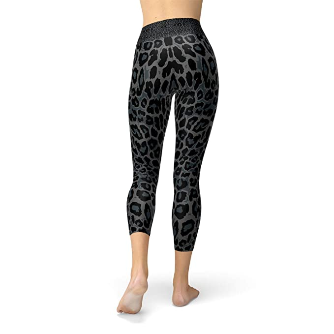 e6054c30 Amazon.com: Black Panther Yoga Capri Leggings High Waisted Leopard ...
