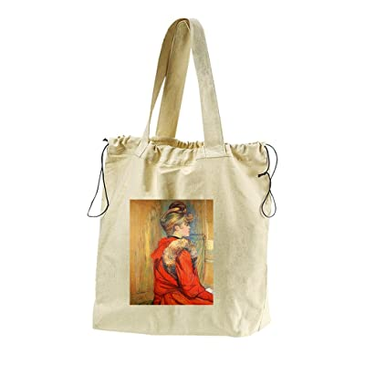 well-wreapped Girl Fur M Galette (Toulouse Lautrec) Canvas Drawstring Beach Tote Bag