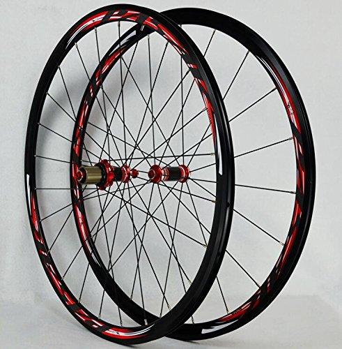 700Cロードバイク自転車カーボンシールベアリングホイールストレートプルV/Cブレーキ30MM合金リムホイール B075R2TV24