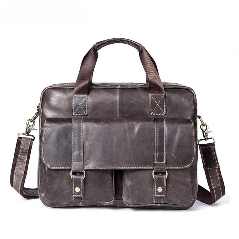 Color : Gray Cross body shoulder bag handbag mens handbag briefcase Messenger bag