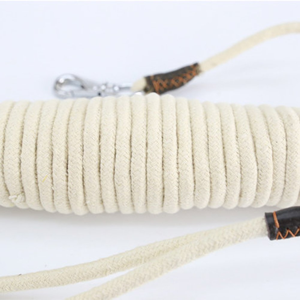 20m0.8cm Dog leash leash dog chain tracking rope dog pet supplies long training horse dog large dog 5 meters 15 meters,20m0.8cm