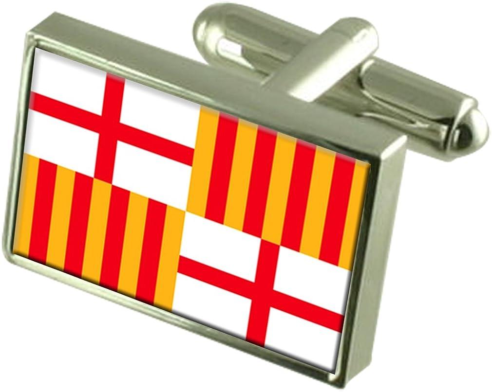 Select Gifts Barcelona Ciudad Bandera España Cuadro Grabado Gemelos: Amazon.es: Joyería