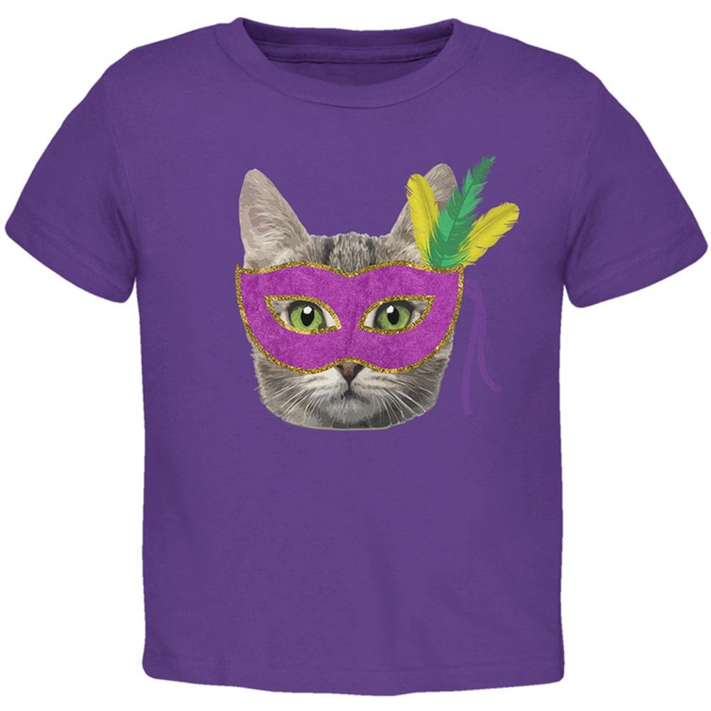 Mardi Gras Mask Funny Cat Toddler T Shirt Old Glory 00179761