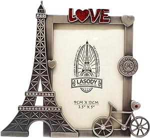QTMY Metal Eiffel Tower Bike Love Picture Frames Office Desk Ornaments (Eiffel Tower) (Eiffel Tower)
